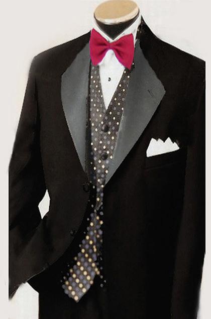 dressit costume noir fait sur mesure (15990870)