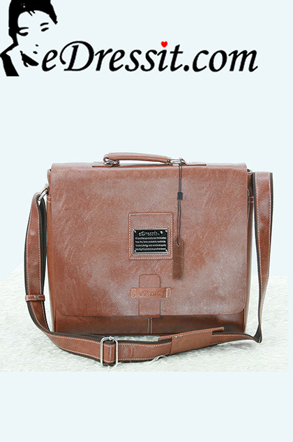 eDressit Leather Men's Messenger Shoulder Bag Briefcase (08080209)