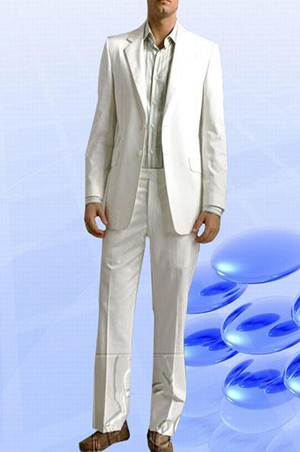 edressit costume blanc fait sur mesure (15993407)