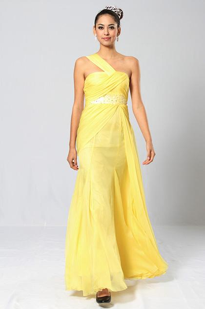 eDressit Elegant Folie Schulter Diamanten und Perlen Abiballkleid (00091203)