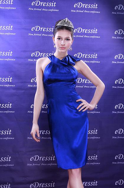eDressit Eva Longoria Parker Robe de Cocktail Bleu (04090805)