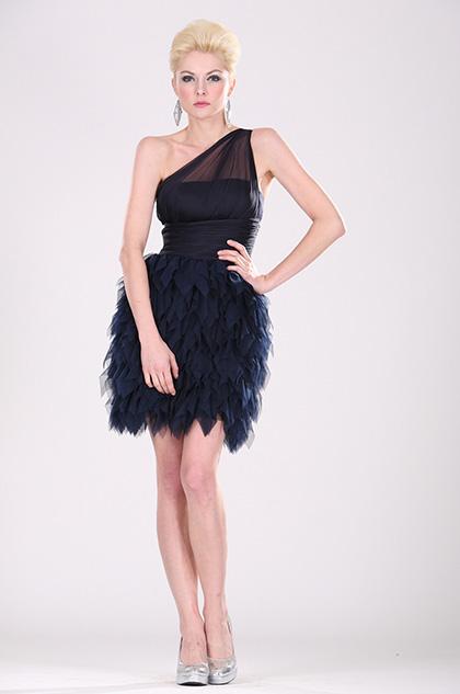 eDressit Dunkelblau Partykleid Cocktail Kleid (04100305)