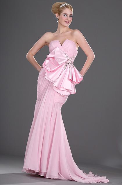 eDressit Trägerlos  Elegant großartig rosa  Ballkleid (00106401)