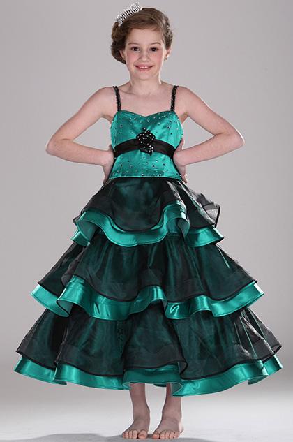 eDressit Adorable  Tenues de cortège filles Verte Noire (27100611)
