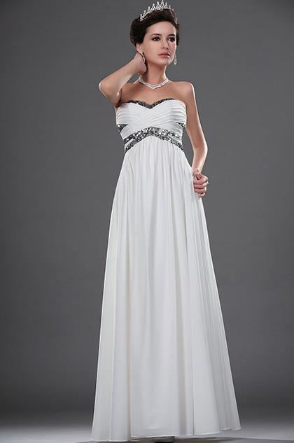 eDressit  Blanc Bustier Paillettes Robe de Bal  / Mariée (01111607)