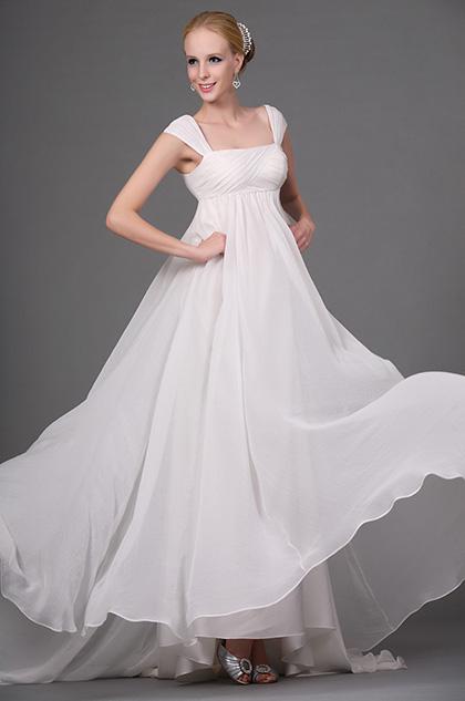 eDressit Clasico Vestido de Noche Blanco (00112007)