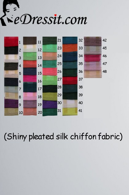 eDressit Shiny Pleated Silk Chiffon Color Chart (50100102A)