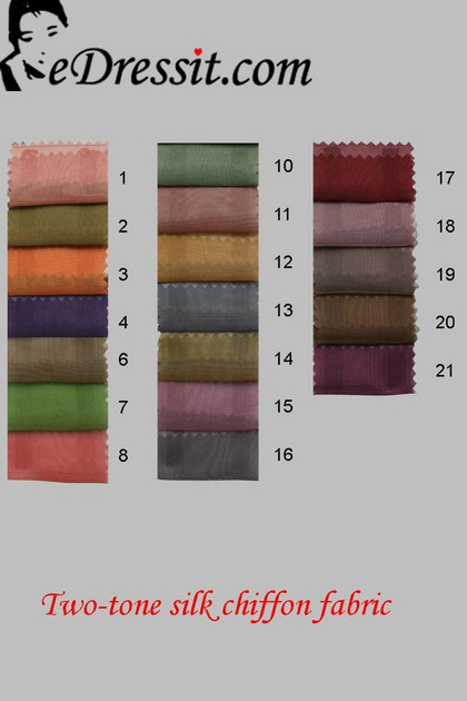 eDressit цветовая диаграмма двухцветные шёлковые шифоновые ткани (65100101A)