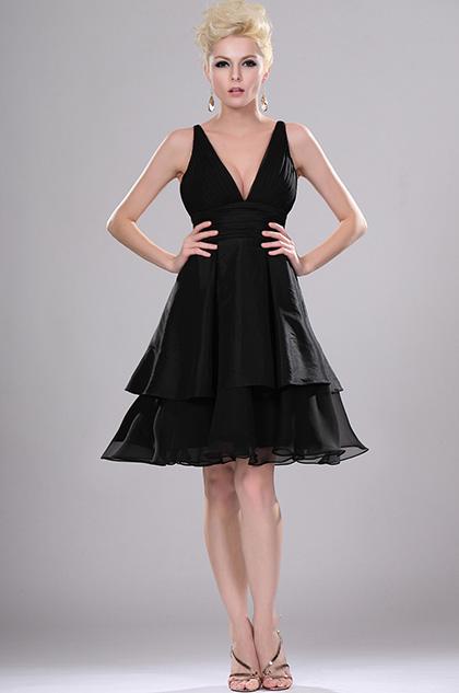 eDressit сексуальное маленькое черное платье с  v-декольте (04110800)