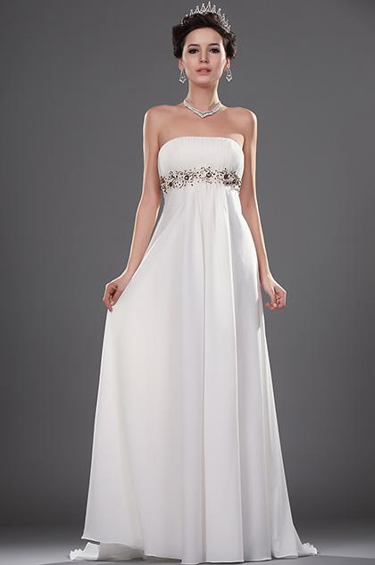 eDressit New Elegant Charming Strapless Beaded Wedding Gown (01110807)