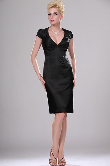 eDressit La Petite Robe Noire V-neck Soiree robe (04114200)