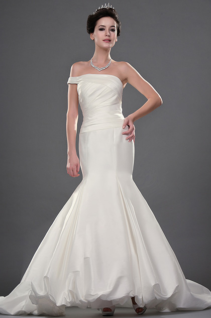 eDressit New Stylish Single Off Shoulder Wedding Gown (01110507)