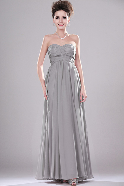 eDressit New Strapless Pleated Evening Dress (00113908)