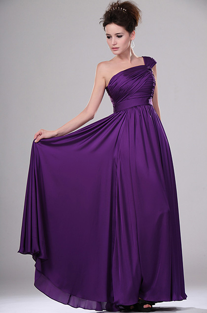 Edressit Simple Elegant Purple Evening Dress 00115106