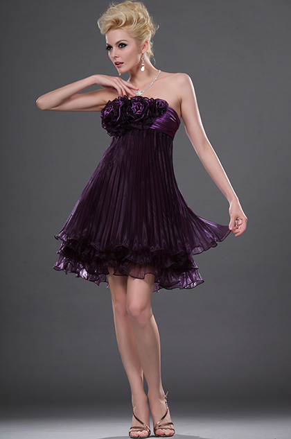 eDressit Alluring Pleated Strapless Cocktail Dress (04111606)