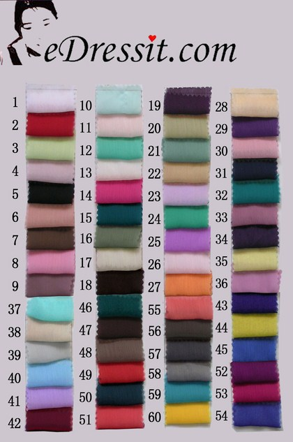 eDressit Pleated Chiffon Color Chart (41660101A)