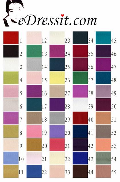 eDressit Crepe satin Color Chart (60100101A)