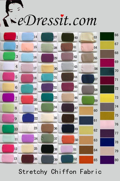 eDressit Stretchy Chiffon Color Chart (38662301A)