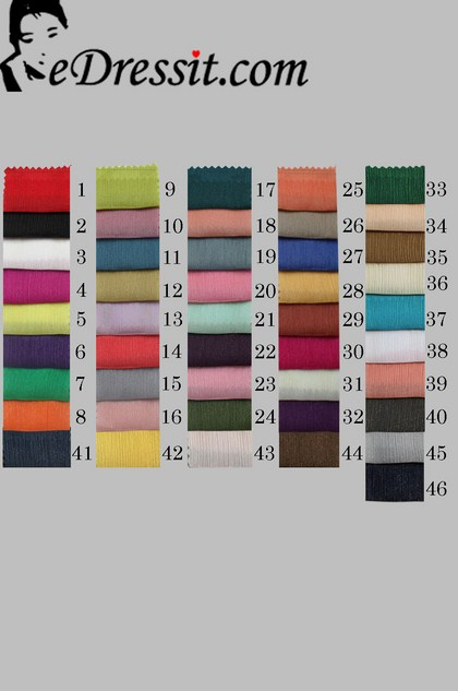 eDressit Diamond Pleated Chiffon Color Chart (62100101A)