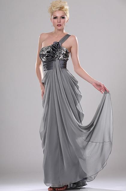 eDressit Brillantes Maravilloso Vestido de noche Solo hombro con lentejuelas (00114708)