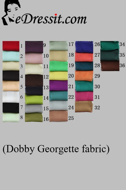 eDressit добби жоржет ткани     цветовая   диаграмма (50100101A)