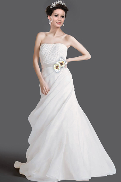 eDressit New Strapless Ruched Wedding Gown (01110607)