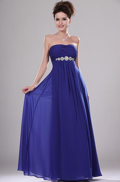 eDressit Elegante Brillante Vestido de noche sin Tirante con Adornos (00111605)