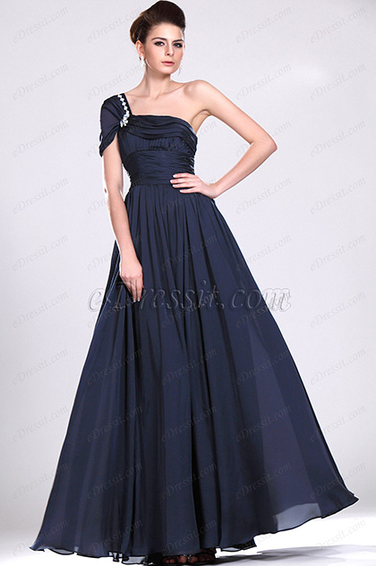 eDressit Elegant Beaded One Shoudler Evening Dress (00119705)