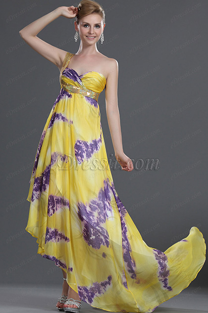 eDressit New Elegant One Shoulder 100% Silk Evening Dress (00099424)
