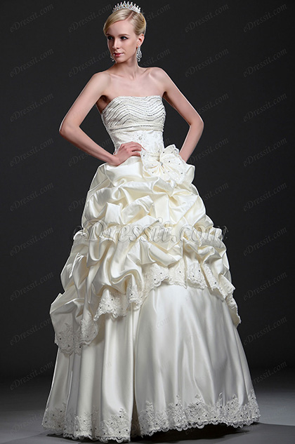 eDressit New Beaded Ruffled Wedding Gown (01112613)