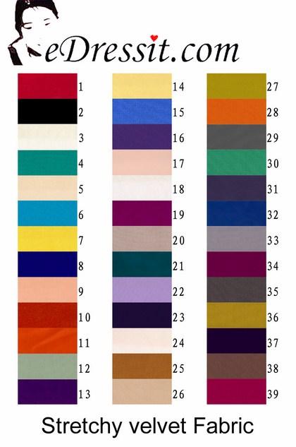 eDressit Stretchy Velvet Tissu (60110105)
