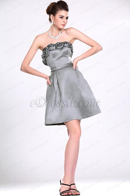 eDressit Nuevo Sin tirante Gris Vestido de Dama de Honor (07111108)