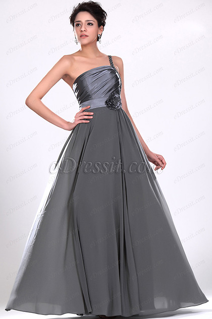 eDressit  Stylish One Shoulder Beaded Evening Dress (00119308)