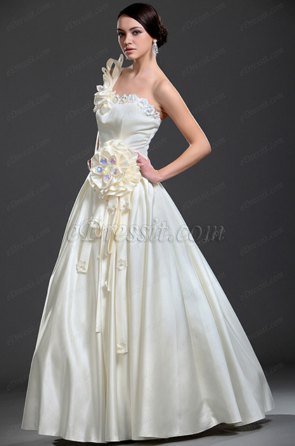 eDressit New Elegant One Shoulder Wedding Dress (01113613)