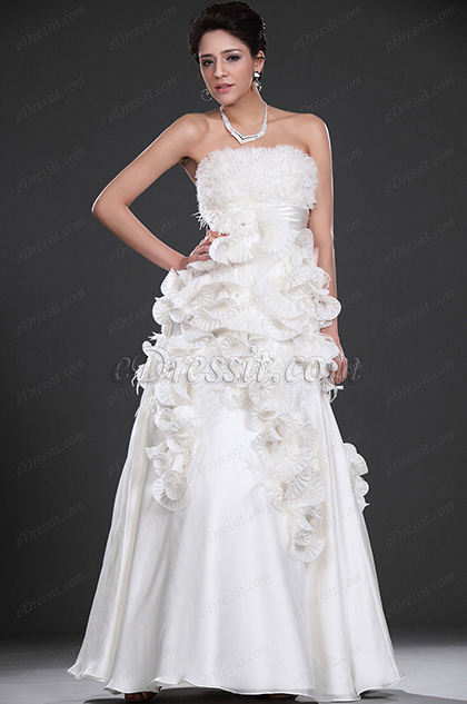 eDressit  New Style Strapless Prom Gown Wedding Gown (02110107)