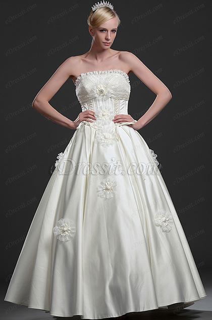 eDressit Elegante vestido de Boda sin tirante (01112913)