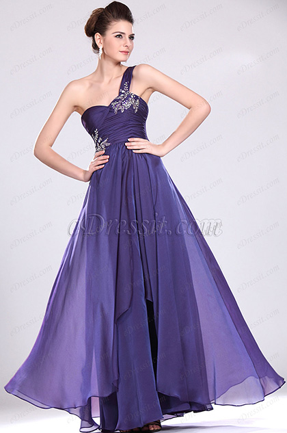 eDressit Elegang Beaded Purple Evening Dress (00119006)