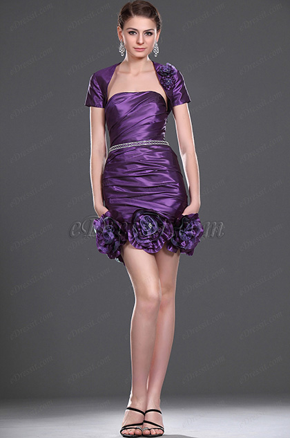 eDressit  New Attractive Strapless Cocktail Dress with Bolero (04114406)