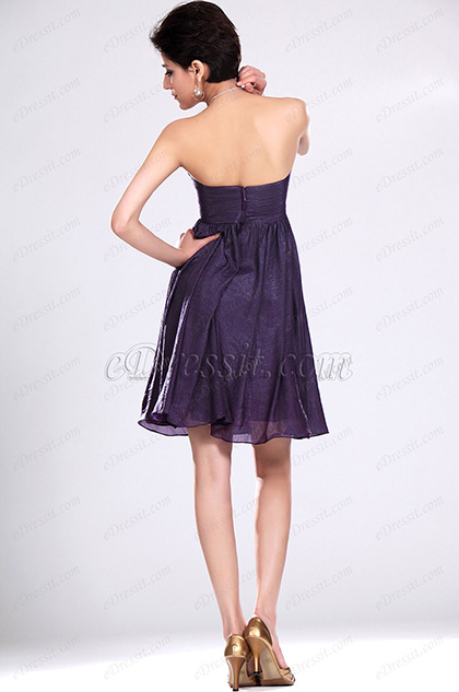 Edressit charmante bustier violet robe de demoiselle d for Robes de demoiselle d honneur aqua pour mariage sur la plage