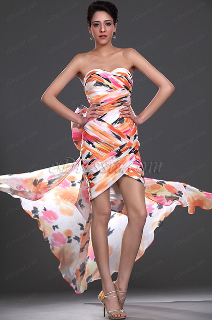 eDressit Style Sweetheart Cocktail Dress with Detachable Train (04115668)