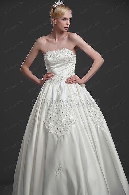 eDressit wundervoll Brautkleid mit Perlen und Steinen (01114513)