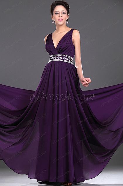 eDressit Neue Artikel Eleganz V-Ausschnitt Perlen Abendkleid (00115906)