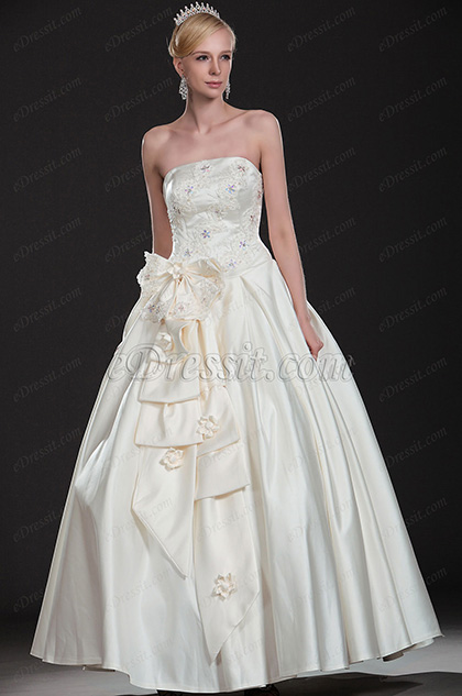 eDressit New Arrival Strapless Wedding Gown (01113713)