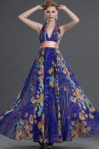 eDressit Halter 100% Soie Robe de Soirée Romantique (00091805)