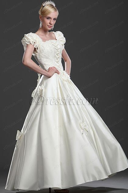 eDressit Elegante Vestido de Boda de adornos (01112813)