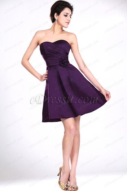eDressit Bustier Violet Robe de Demoiselle d'Honneur (07111206)