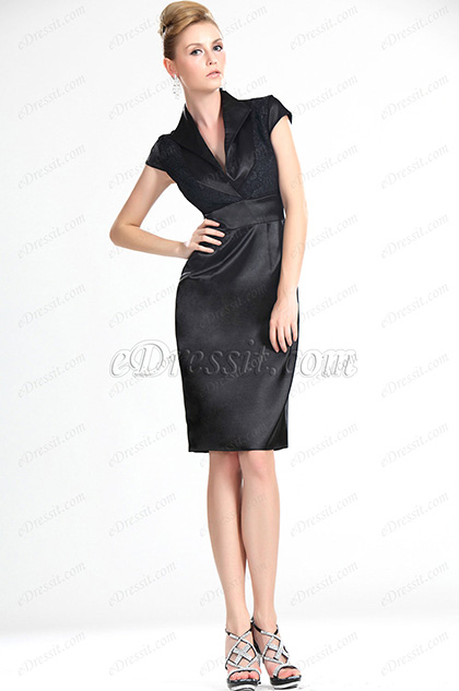 eDressit New  Charming V-neckline Little Black Lady Dress (03112500)
