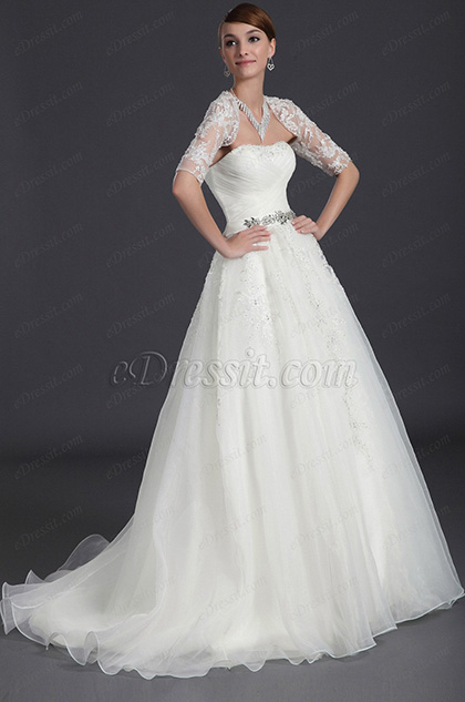 eDressit Charming Lace Wedding Gown (01120907)