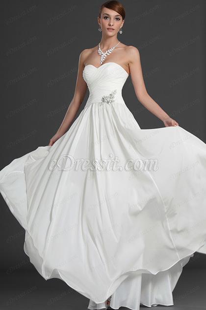 eDressit Elegante Escote de cariño Vestido de Fiesta (00126307)