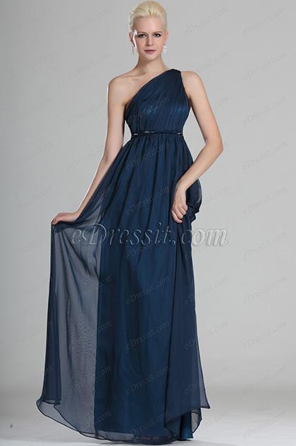 eDressit Elegante Azul Solo hombro Vestido de Noche (00112705)